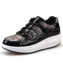 Zanzea Bling Rocker Sole Casual Shoes Black 38