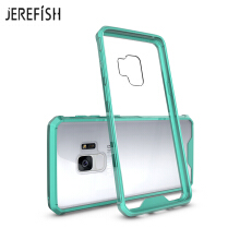 JEREFISH Samsung Galaxy S9 Phone Case Shock-Absorption Bumper Style Premium Hybrid Protective Clear Cover