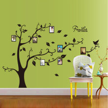 [kingstore] New 50*70CM Photo Tree PVC Wall Decals Wall Stickers Mural Art Home Decor Black