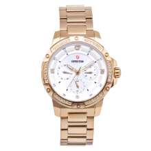 Expedition Jam Tangan - Rosegold White - Stainless Steel - 6698 BFBRGSL