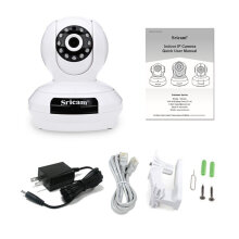 SP019 1080P HD Surveillance Camera Night Vision WiFi IP Security Camera white