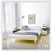Tempat Tidur Bed Aquilla Series White - Queen Bed - LIVIEN Furniture