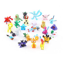 [kingstore] 24PCS Cute Lovely Apperance Characters PVC Figures Model Toy Party Kid Gift Multicolor