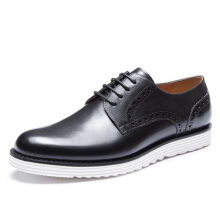 AOKANG 2018 New Arrival Men Shoes leather genuine Brogue Shoes fashion dress shoes hard-wearing derby shoes black