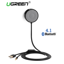 UGREEN Bluetooth 4.1 Car Kit Receiver, Wireless Audio Music Stereo Adapter Support Hands-Free Calling and Music Streaming Dongle with 3.5 mm Aux Cable