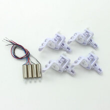 [kingstore] 2 Pairs Drone Engine Motors with 4pcs Motor Base Cover for SYMA X5C X5C-1 X5 Silver