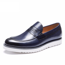 AOKANG 2018 New Arrival men shoes leather genuine shoes man casual dress men shoes high quality shoes blue