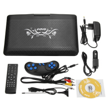 9.8'' Portable Car Rechargeable DVD Player Game Video Control 270° Swivel Screen Black