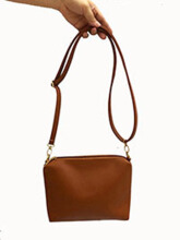 BEAUTY GUM Tas slempang kulit pemice (HIGH QUALITY) - Brown