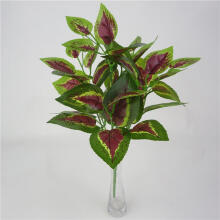 Farfi 1 Bouquet Artificial Fake Plant Basil Leaves Home Office Garden Shop Decoration as the pictures