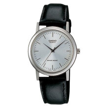 Casio General MTP-1095E-7ADF White Dial Black Leather Strap [MTP-1095E-7ADF]