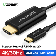 UGREEN USB Type C to HDMI Adapter Cable USB C to HDMI Cable 4K HD Thunderbolt 3 Compatible