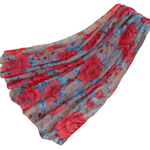 LAVEN pastoral style new Bali yarn printing flower women's scarf