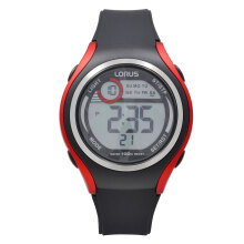 LORUS Jam Tangan - Black Red - Silicon - R2379LX9