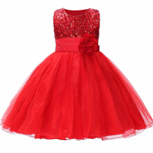 SESIBII Size 110~160 Girls Princess Sequined Mesh Dresses Kids Baptism Cake Gown Tulle Lace Children Frocks Teen Costume -