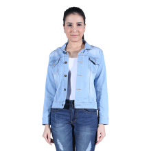 COTTON WOODS Jaket Jeans Denim Wanita Strecht Best Seller Light Blue XL