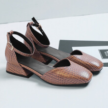 Sweet Flat Comfortable Pumps For Women Brown 40