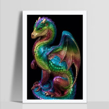 [COZIME] Dinosaur Pattern DIY Diamond Painting Embroidery Resin Craft Wall Decor D199 multicolor Dinosaur-1