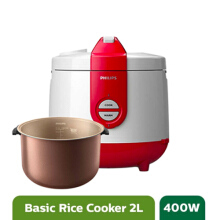Philips Rice Cooker - HD3119/32 Basic Red