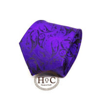 HOUSEOFCUFF Dasi Neck Tie Motif Wedding Best Man VIOLET BATIK TIE Purple
