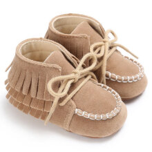 TOWER PRO Newborn Baby Girl Boy Winter Tassel Shoes Warm Snow Boots Infant Booties Pink 11cm