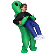 Real Bubee Inflatable Pick up Alien Costumes Cosplay Party Prop Toy  - Kelly Green