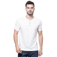 PARADIGMA Henley S/S [80101016] - Off White