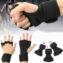 Farfi Weight Lifting Gym Workout Sport Exercise Training Neoprene Gloves Wrist Wrap