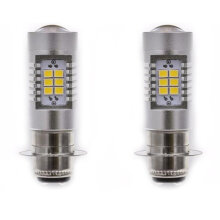[COZIME] PX15D-2835-21SMD Bulb For Motorcycle High Power Motorcycle Headlights Black