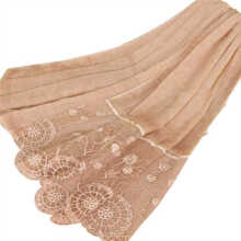 LAVEN fashion stitching plain thin breathable lace scarf