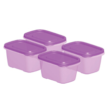 TECHNOPLAST Azumi Small Tall 450ml Set of 4 - Purple