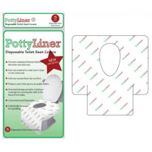 [free ongkir]PottyLiner Disposable Toilet Seat Covers Premium with Anti Slip - 5 Pcs