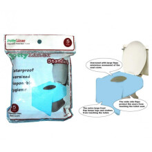 PottyLiner Disposable Toilet Seat Covers Standard - 5 Pcs