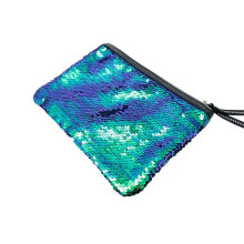 [LESHP]Fashionable Small Size Women Sequin Makeup Bag Cosmetics Pouch For Travel MUlticolor