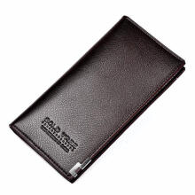Zanzea 0051Men Leather Long Clutch Wallet Credit Card Holder Zipper Checkbook Handbag Purse #2 Black