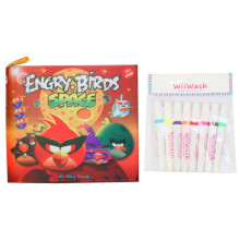 [free ongkir]Wii-Wash Washable Book with Markers - Engry Birds Space