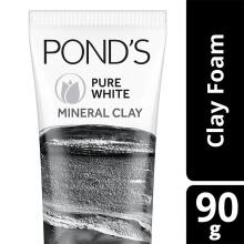 POND'S Pure White Mineral Clay Facial Foam 90g