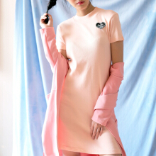 DON CLOTHING LABEL Lonely Rib Dress - Peach  [All Size]