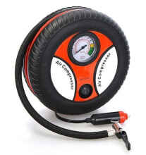 The Little Things Pompa Ban Air Compressor 12V Portable Unik Bentuk Ban Tombol On/Off Black