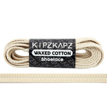 KIPZKAPZ WS49 Waxed Cotton Flat Shoelace - Off White [5mm]