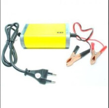 Prime Portable Motorcycle Car Battery Charger 12V/2A - Kuning