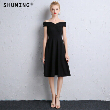SHUMING- Dress Wedding dress Evening Dresses Black XS