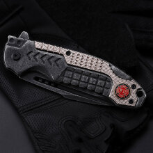 [COZIME] Practical Outdoor Tool High Hardness Folding Knife Tactical Survival Knife Black