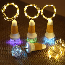 Farfi Diamond Shape Cork Stopper Lamp USB Rechargeable String Light for Bottle Decor as the pictures