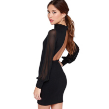 Jantens Sexy women's 2018 brand fashion open back tight dress