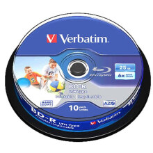 Verbatim Blue Ray BD-R 25GB 6x IP CB 10 #64099