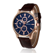 PEKY Men and women watches retro design PU leather belt analog alloy quartz watch men watch