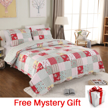 VINTAGE STORY Shabby Bed Cover Set Korea Size Single 150x200 cm/A01B150