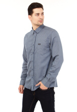 COTTONOLOGY Men's Shirt Crone Blue