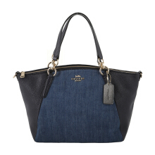 COACH 26159 Small Denim Kelsey Satchel (COA01757B) Blue
